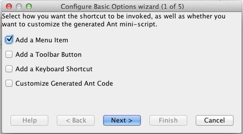 Create Shortcut Menu